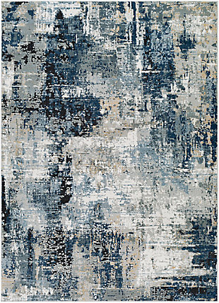 "Home Accent Bizzell 5'3"" x 7'3"" Area Rug, Blue, large"