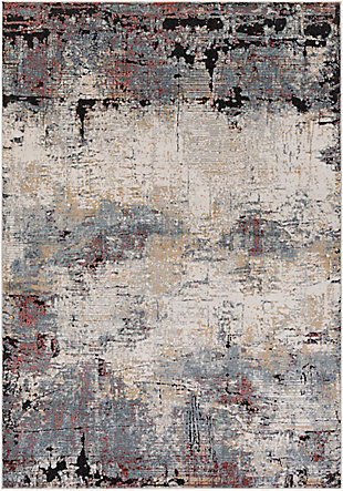 """Home Accent Abigail 5'3"""" x 7'3"""" Area Rug, Black/Gray, large"""