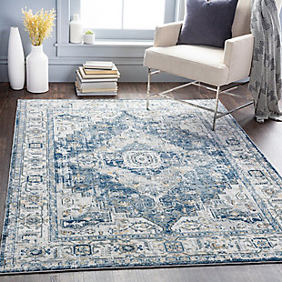 "Home Accent Glennis 5'3"" x 7'3"" Area Rug, Black/Gray, rollover"