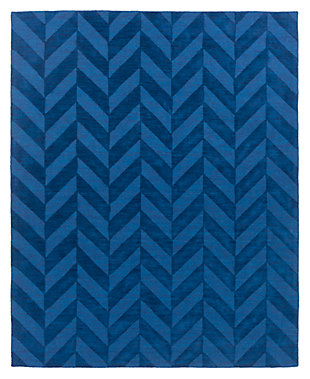 Home Accents Artistic Weavers Central Park Carrie Rug 9' x 12', Blue, large