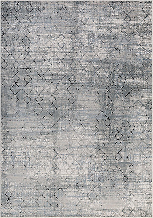 """Home Accent Jay 5'3"""" x 7'3"""" Area Rug, Black/Gray, large"""