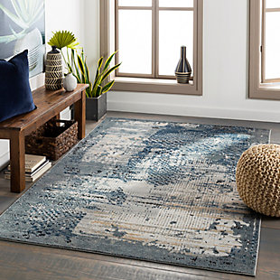"""Home Accent Shanelle 5'3"""" x 7'3"""" Area Rug, Black/Gray, rollover"""