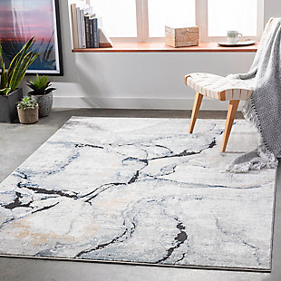 "Home Accent Venice 5'3"" x 7'3"" Area Rug, Black/Gray, rollover"