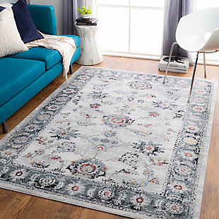 "Home Accent Catrice 5'3"" x 7'3"" Area Rug, Black/Gray, rollover"