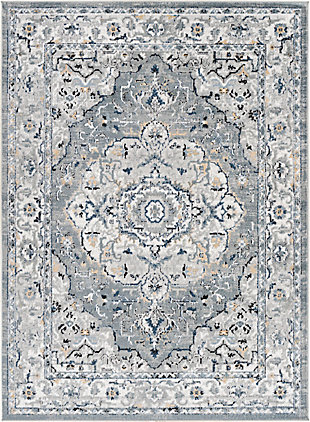 """Home Accent Graciela 5'3"""" x 7'3"""" Area Rug, Black/Gray, large"""
