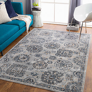 "Home Accent Danika 5'3"" x 7'3"" Area Rug, Black/Gray, rollover"