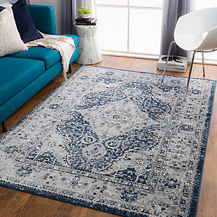 "Home Accent Deandre 5'3"" x 7'3"" Area Rug, Blue, rollover"