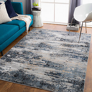 """Home Accent Kayleigh 5'3"""" x 7'3"""" Area Rug, Black/Gray, rollover"""