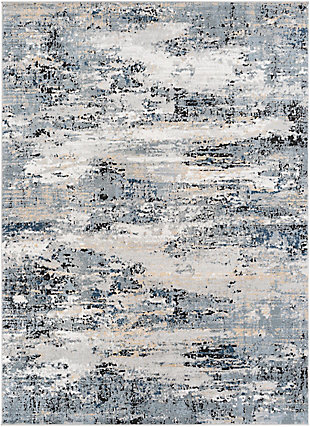 """Home Accent Kayleigh 5'3"""" x 7'3"""" Area Rug, Black/Gray, large"""