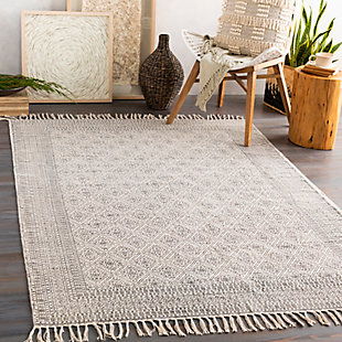 "Home Accent Kerstin 5' x 7'6"" Area Rug, Black/Gray, rollover"