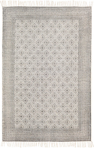 "Home Accent Kerstin 5' x 7'6"" Area Rug, Black/Gray, large"