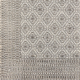 """Home Accent Kerstin 5' x 7'6"""" Area Rug, Black/Gray, large"""