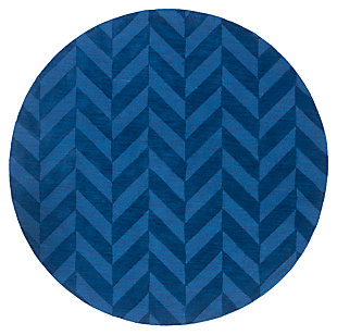 "Home Accents Artistic Weavers Central Park Carrie Rug 9'9"" Round, Blue, large"