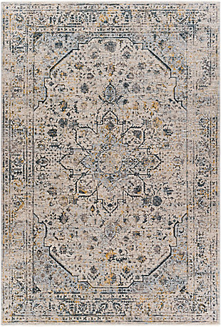 """Home Accent Inger 5' x 7'5"""" Area Rug, Blue, large"""