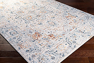 "Home Accent Caroline 5' x 7'5"" Area Rug, Blue, rollover"