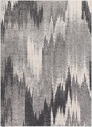 """Home Accent Latonia 5'3"""" x 7'3"""" Area Rug, Black/Gray, large"""
