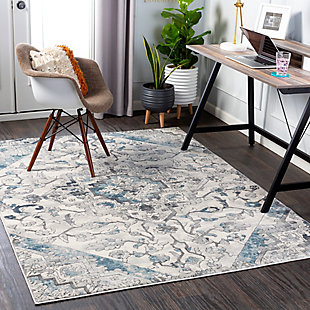 """Home Accent Princess 5'3"""" x 7'3"""" Area Rug, Blue, rollover"""