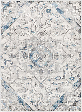 """Home Accent Princess 5'3"""" x 7'3"""" Area Rug, Blue, large"""