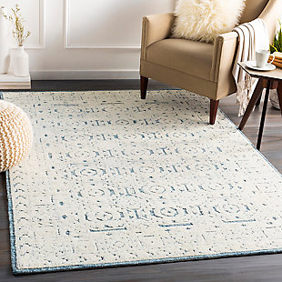 """Home Accent Lovetta 5' x 7'6"""" Area Rug, Blue, large"""