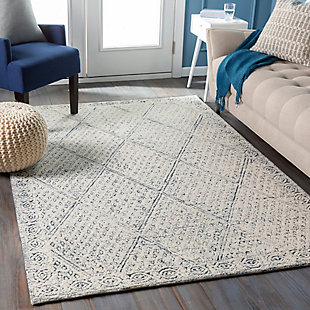 "Home Accent Sina 5' x 7'6"" Area Rug, Blue, rollover"