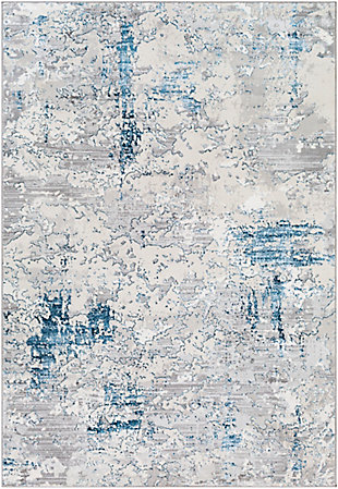 """Home Accent Corine 5'2"""" x 7' Area Rug, Blue, large"""