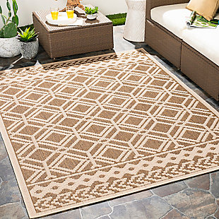 "Home Accent Donetta 5'3"" x 7' Area Rug, Brown/Beige, rollover"