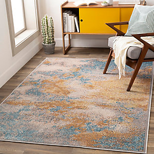 "Home Accent Zelda 5'1"" x 7'3"" Area Rug, Yellow, rollover"