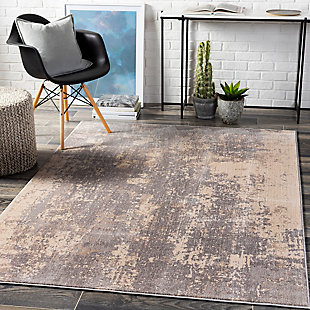 "Home Accent Mellisa 5'1"" x 7'3"" Area Rug, Black/Gray, rollover"