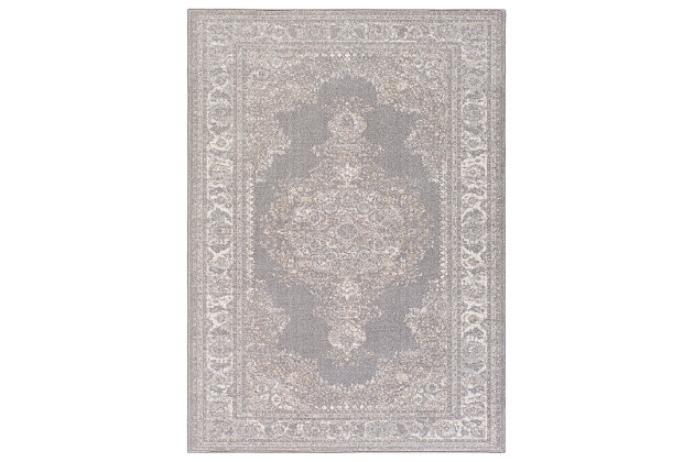 Home Accents Potter Alyssa Rug 5'3 x 7'3, Gray, large