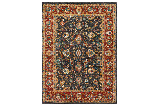 """Home Accents Nicea Flours 5'3"""" x 7'3"""", Multi, large"""