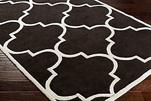 Home Accents Santorini Harmony Rug 4' x 6', Black/Ivory, rollover