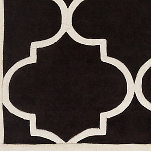 Home Accents Santorini Harmony Rug  2' x 3', Black/Ivory, large