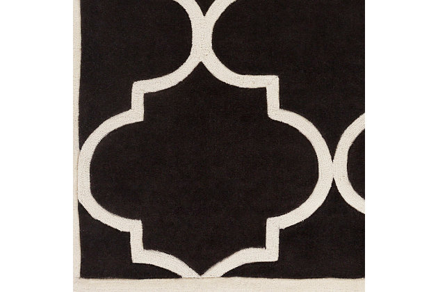 "Home Accents Santorini Harmony Runner 2'3"" x 8', Black/Ivory, large"