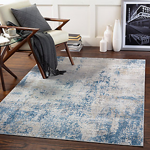 "Home Accent Horvat 5' x 7'3"" Area Rug, Black/Gray, rollover"