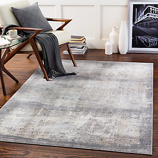 "Home Accent Hauge 5' x 7'3"" Area Rug, Black/Gray, rollover"