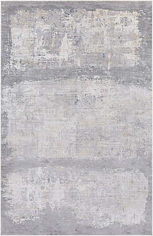 "Home Accent Hauge 5' x 7'3"" Area Rug, Black/Gray, large"
