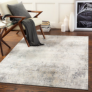 "Home Accent Mcgranahan 5' x 7'3"" Area Rug, Black/Gray, rollover"