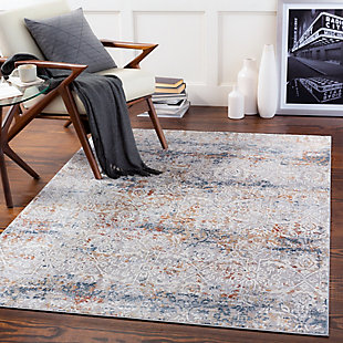 "Home Accent Baylor 5' x 7'3"" Area Rug, Black/Gray, rollover"