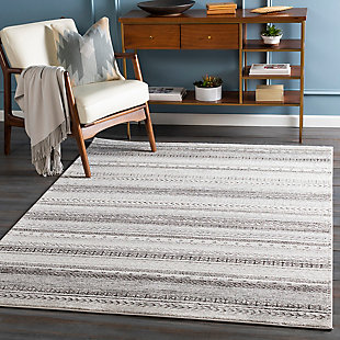 "Home Accent Stille 5'3"" x 7'3"" Area Rug, Black/Gray, rollover"