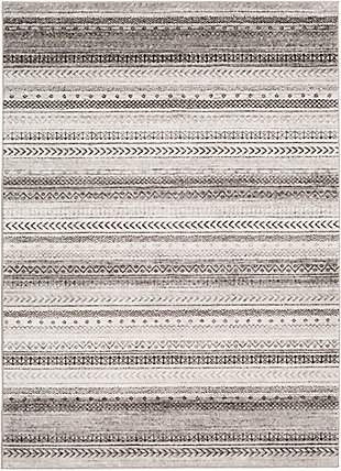 "Home Accent Stille 5'3"" x 7'3"" Area Rug, Black/Gray, large"