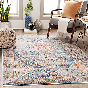 """Home Accent Bendel 5'3"""" x 7'3"""" Area Rug, Blue, rollover"""