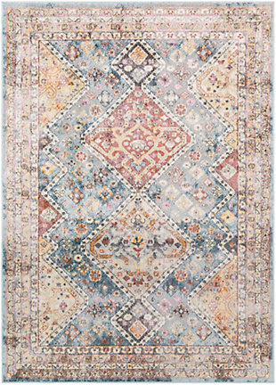 """Home Accent Bendel 5'3"""" x 7'3"""" Area Rug, Blue, large"""