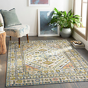 "Home Accent Janusz 5'3"" x 7'3"" Area Rug, Green, rollover"
