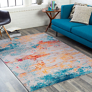 "Home Accent Neuman 5' x 7'6"" Area Rug, Blue, rollover"