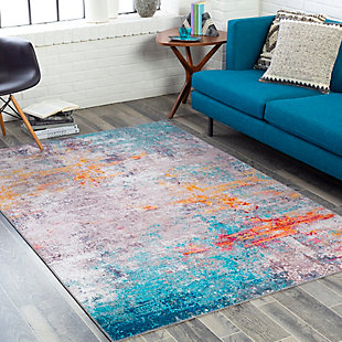 "Home Accent Flurry 5' x 7'6"" Area Rug, Orange, rollover"