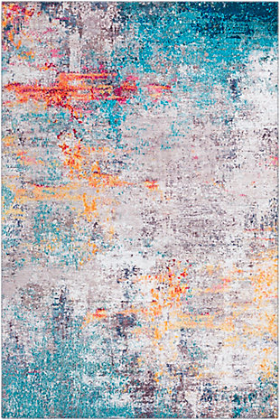 "Home Accent Flurry 5' x 7'6"" Area Rug, Orange, large"