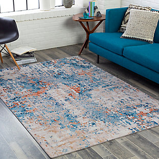 """Home Accent King 5' x 7'6"""" Area Rug, Blue, rollover"""