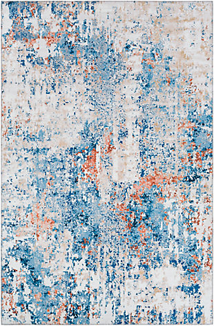 """Home Accent King 5' x 7'6"""" Area Rug, Blue, large"""