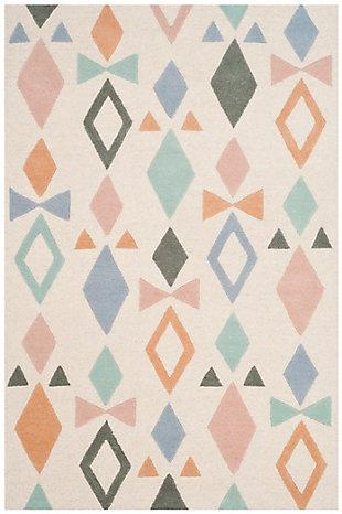 Rectangular 3' x 5' Rug, White, large