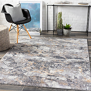 """Home Accent Shantell 5'2"""" x 7' Area Rug, Black/Gray, rollover"""